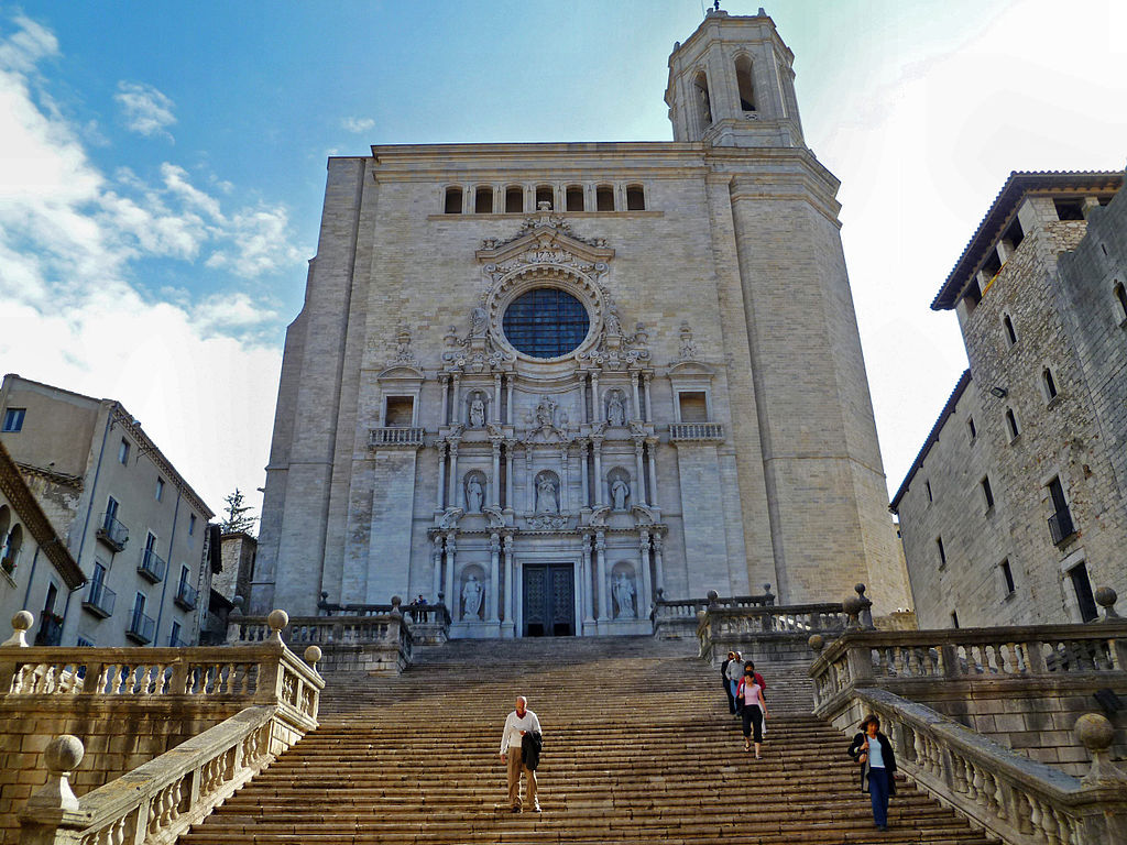 Girona Cathedral, filming location for Game of Thrones, a geeky fan destination near Barcelona