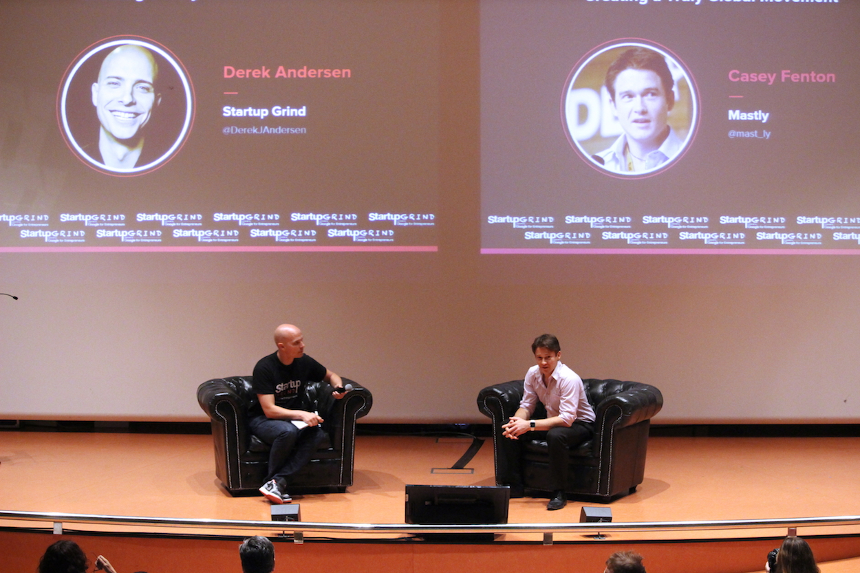 Derek Andersen and Casey Fenton at Startup Grind Conference in Barcelona