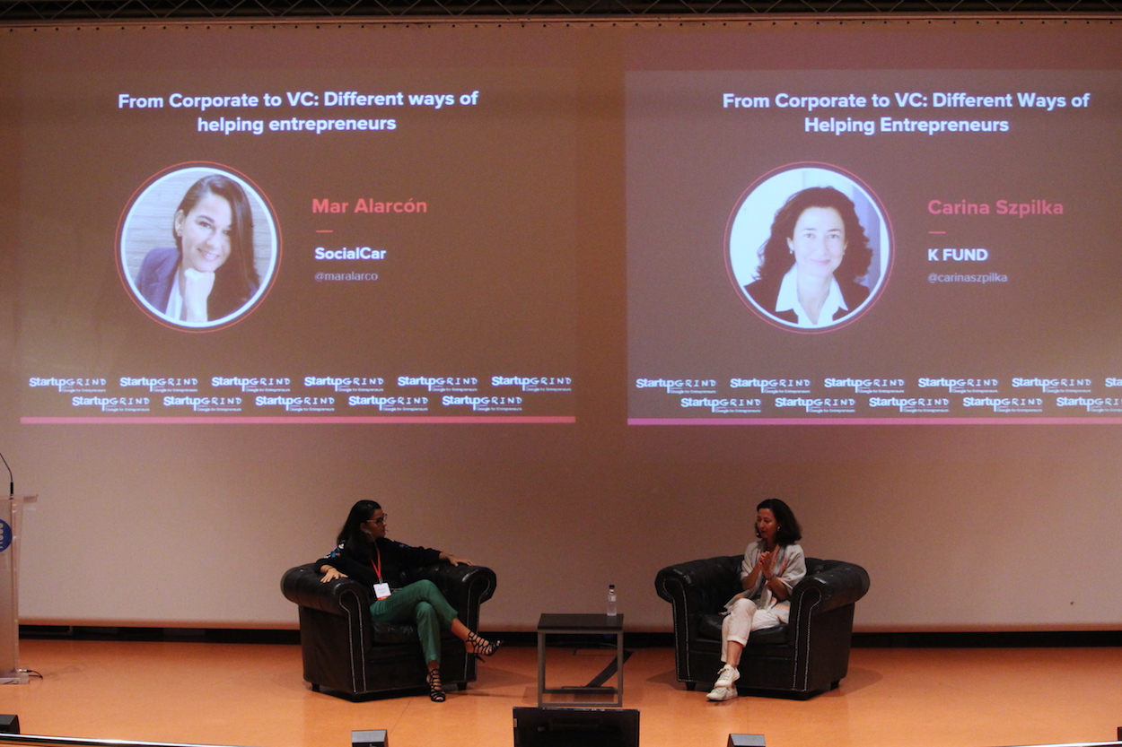 Mar Alarcon and Carina Szplika at Startup Grind Conference in Barcelona