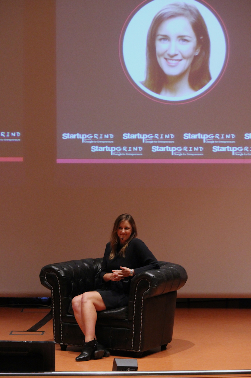 Startup Genome CMO Anne Driscoll at Startup Grind Conference in Barcelona