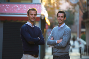 Philippe and David, founders of Barcelona food startup Bookeat