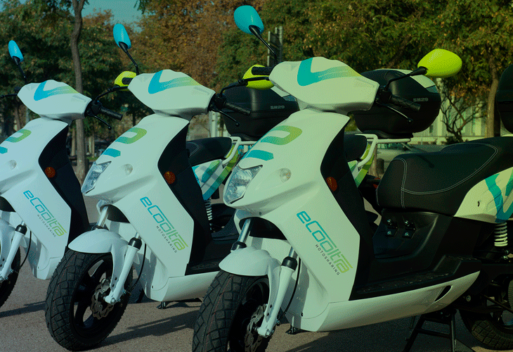 eCooltra, the leading electric scooter sharing service in Barcelona