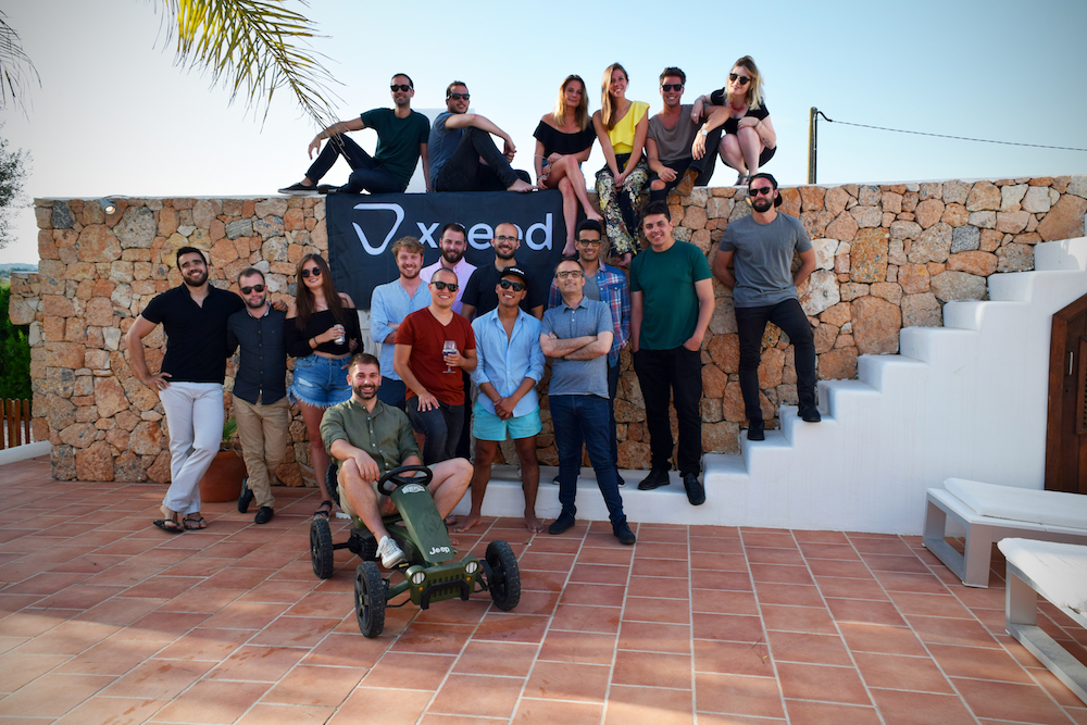 The team of Xceed, a Barcelona startup that lets you find the best parties in town