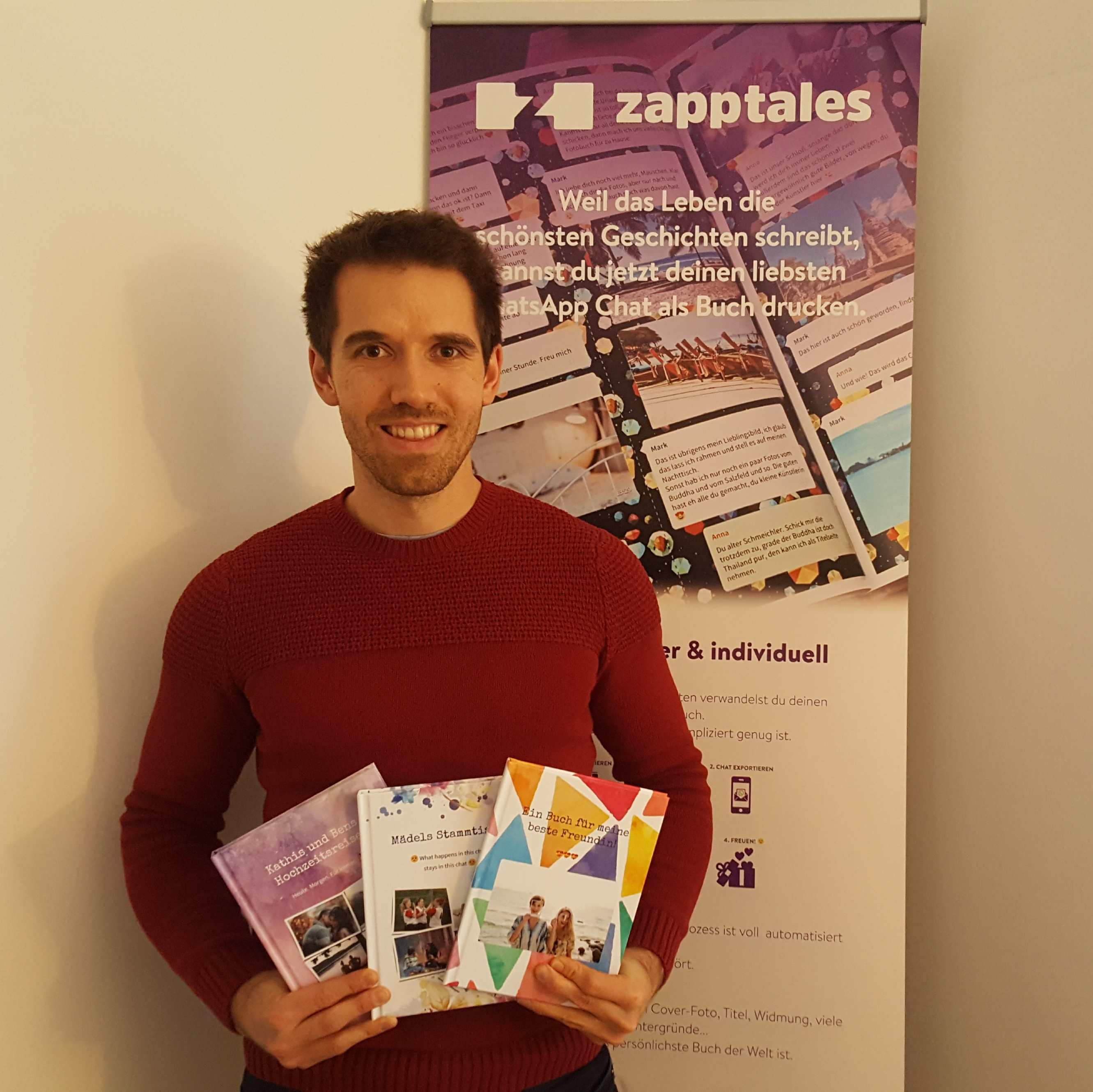 Zapptales - create a chat book from your favorite WhatsApp memories – Munich-based startup